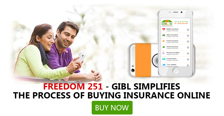 Freedom 251 for everyone in India to buy insurance online from GIBL